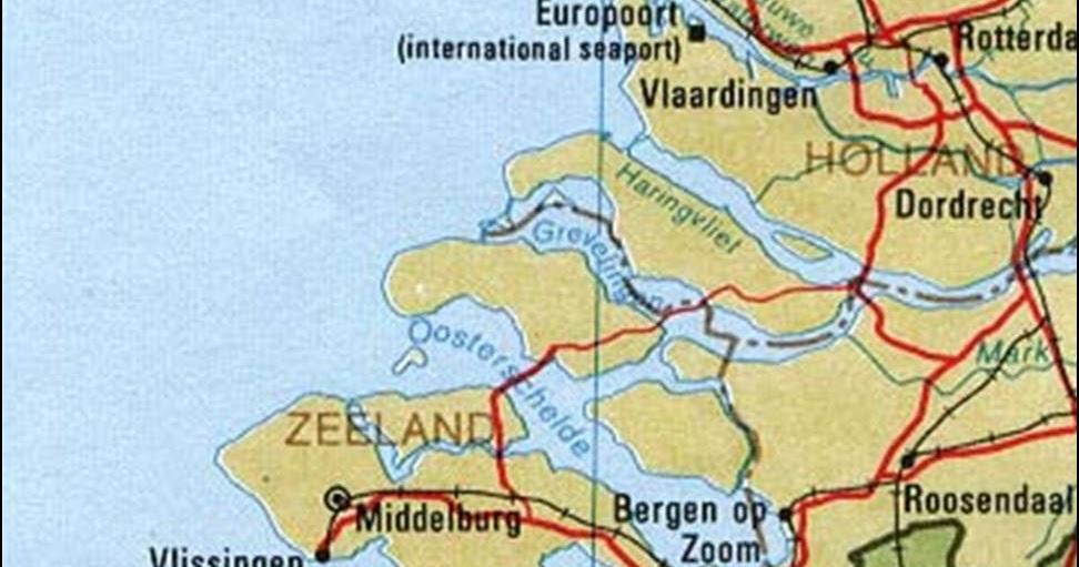 Kaart Zeeland Kaart Zeeland En Middelburg Vakantie Nederland