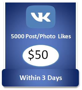 5000 buy Vkontakte Post Likes