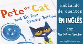 Reseña para familias y teachers de Pete the Cat and his four groovy buttons