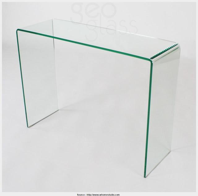 Fantastic Narrow Glass Console Table HD