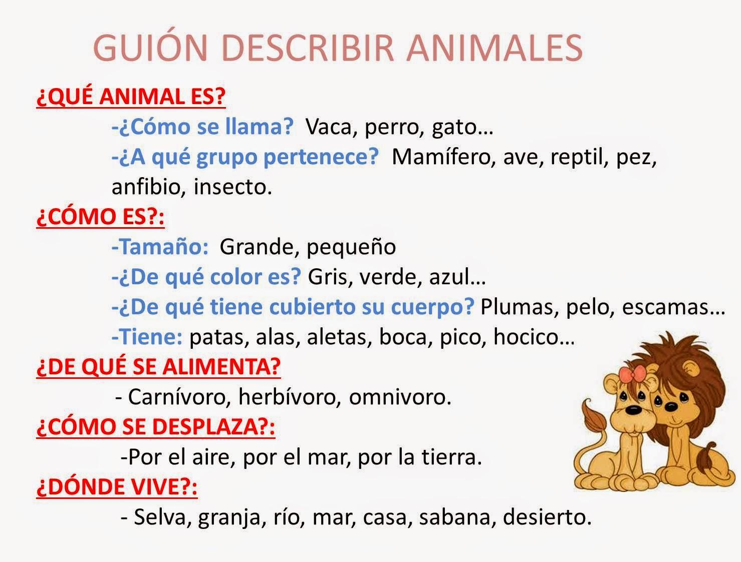 Instrumentales recursos lla descripci n de animales - Como cocinar las setas lengua de vaca ...