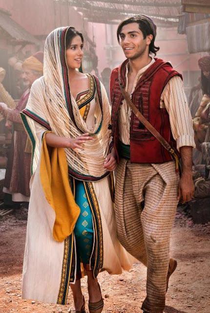 Aladdin figurino Jasmine (Naomi Scott) cidade