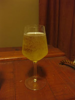 A sour cider doesn't look any different than a standard hard cider.