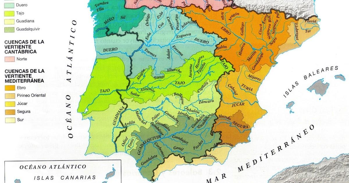 geografía historia y arte las vertientes y cuencas hidrográficas