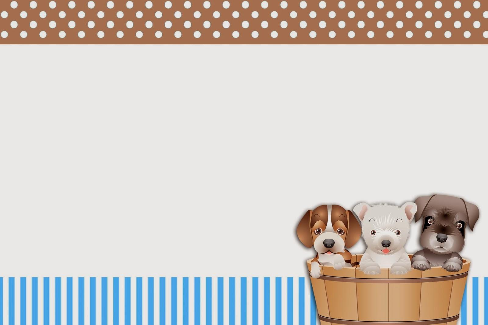 Invitaciones Gratis de Perritos.