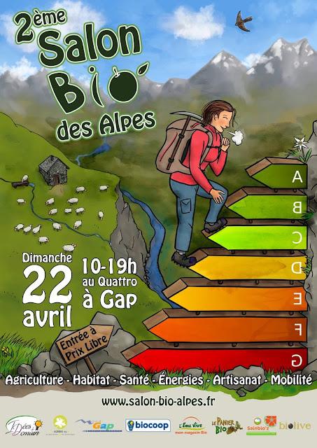 Salon bio au Quattro à Gap Dimanche 22 Avril Taxil Floran atelier ô tour d'une ronce sigoyer