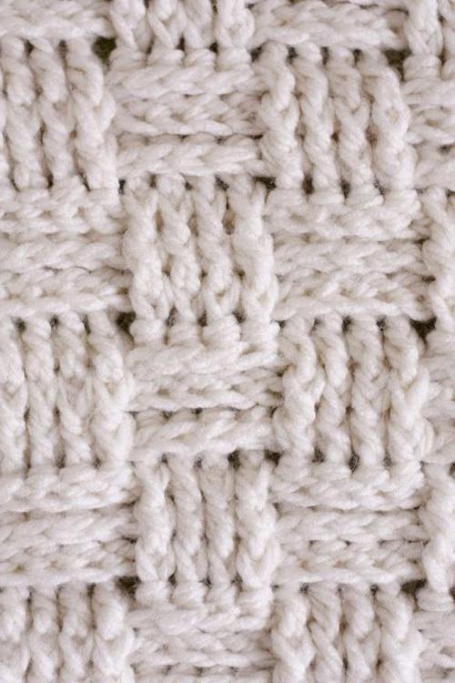 Basket Weave Crochet Baby Blanket - Free Pattern
