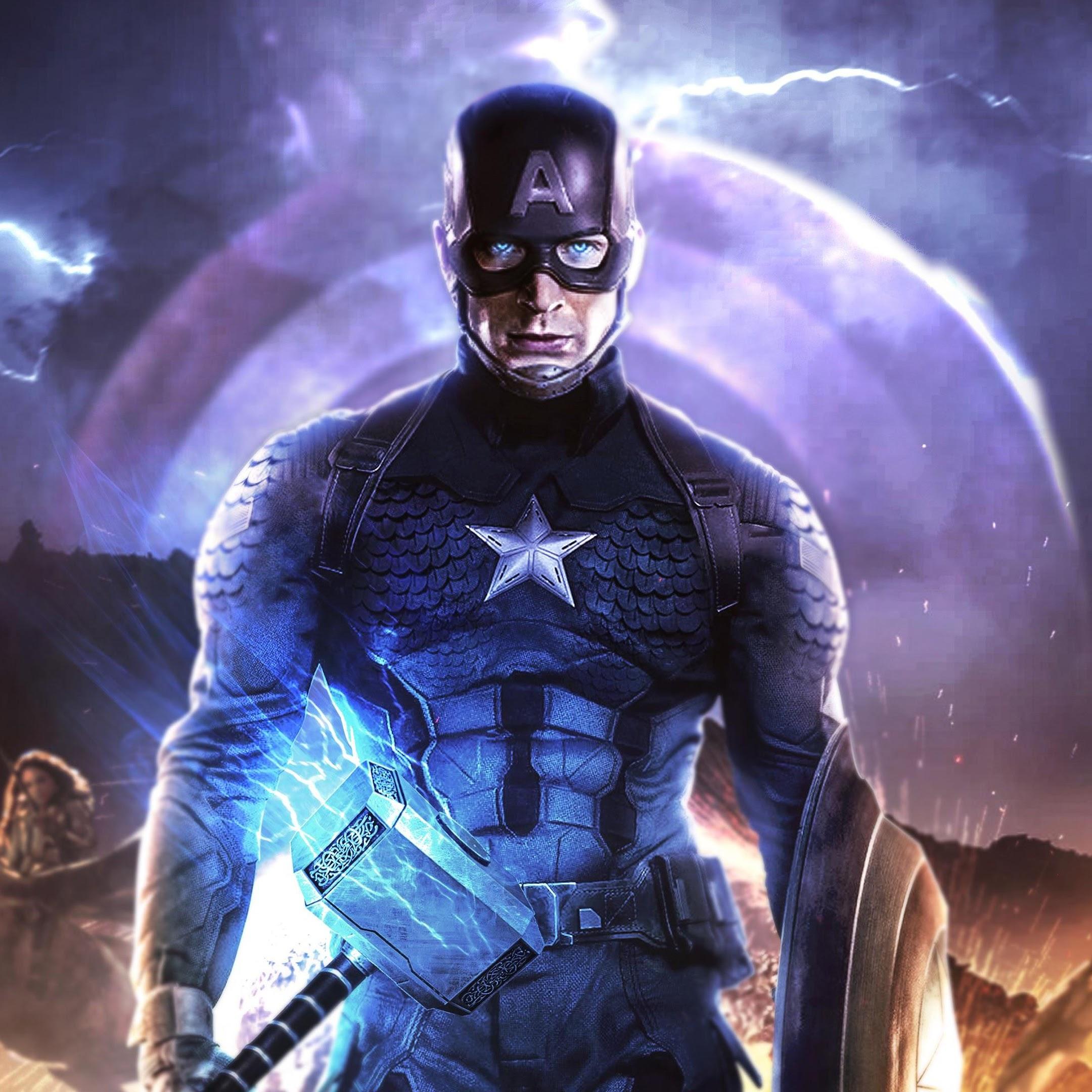 Avengers Endgame Captain America Thor Hammer 4k 162