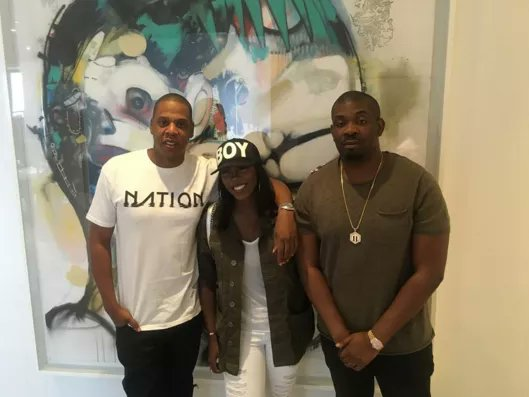 Pictures: Jay Z, Tiwa Savage and Don Jazzy in New York