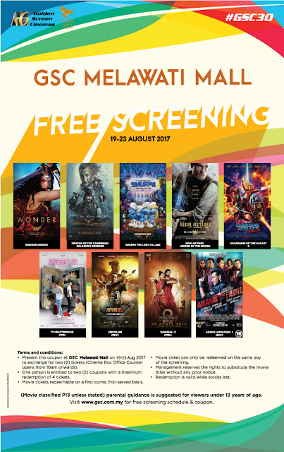GSC Cinema Free Screening Movie Ticket Giveaway Promo