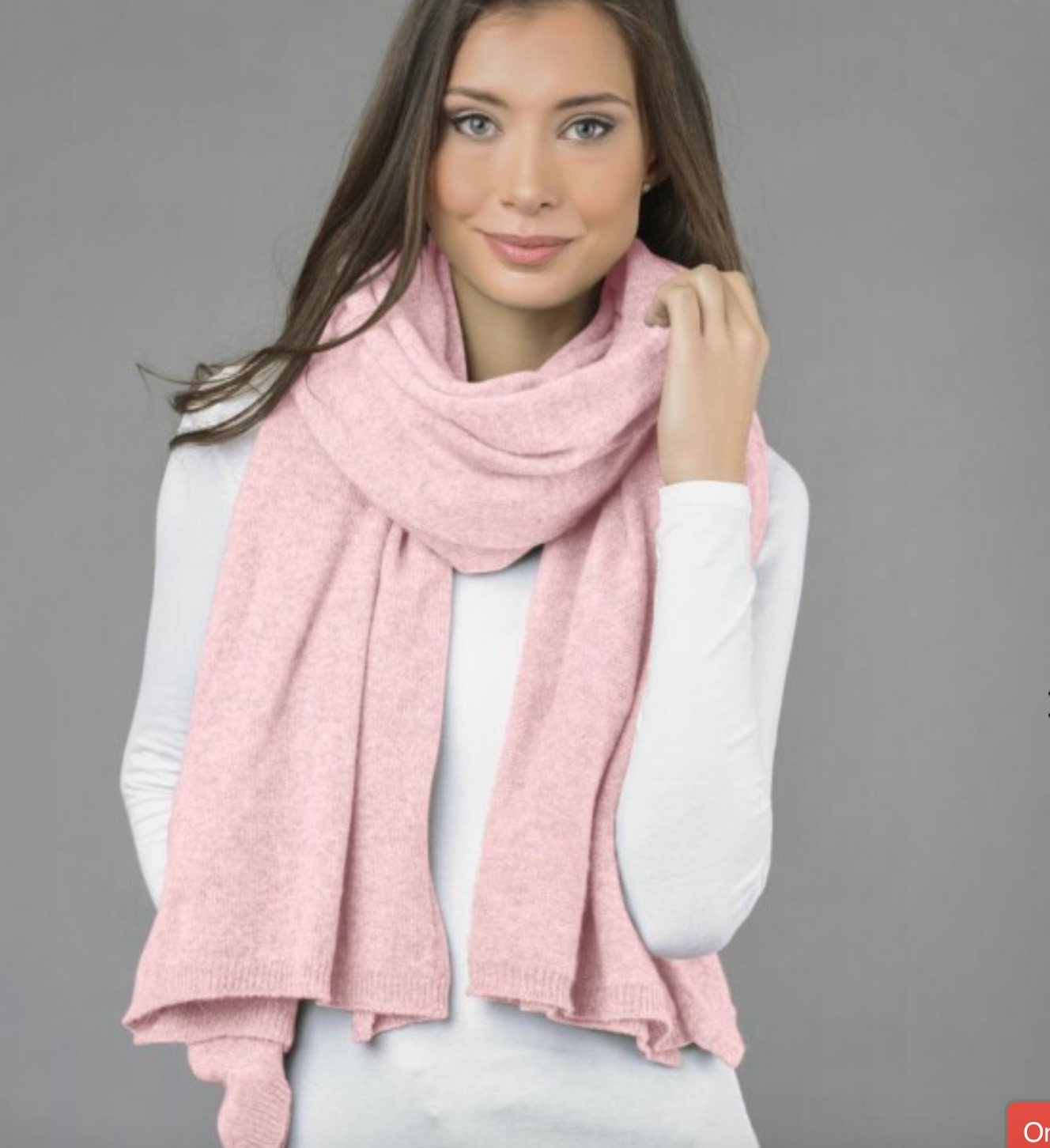 italy in cashmere wrap in baby pink