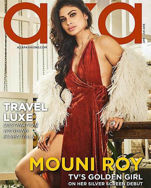 Mouni Roy is lava on the aza fashions magazine cover
