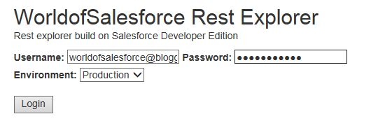 Rest Explorer Salesforce