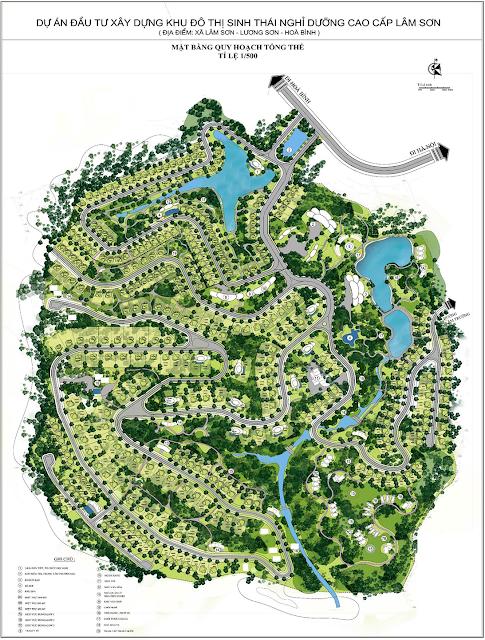 Mặt bằng quy hoạch tổng thể dự án Lâm Sơn Resort