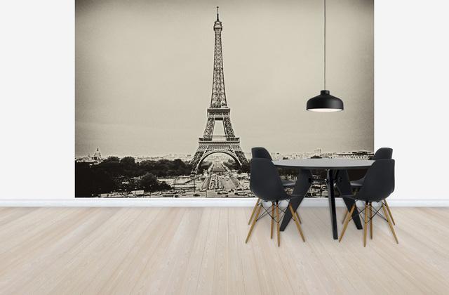 Pariisi Tapetti Mustavalkoinen Paris Eiffel-torni