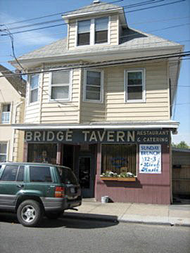 The Bridge Tavern bar down the block from Port Richmond High School