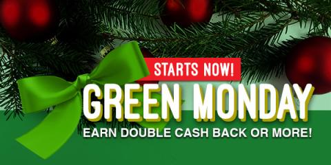 Swagbucks Green Monday Cash Back Deals