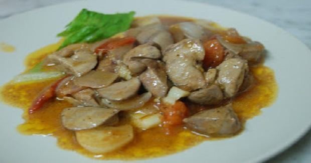 Ginisang Atay Ng Manok (Sauteed Chicken Liver) Recipe