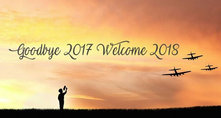 Goodbye 2017 Welcome 2018 Wishes SMS Image