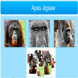 Apes Jigsaw Puzzle Game