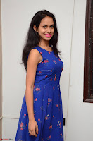 Pallavi Dora Actress in Sleeveless Blue Short dress at Prema Entha Madhuram Priyuraalu Antha Katinam teaser launch 074.jpg