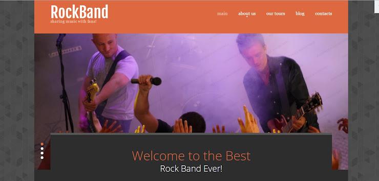 Plantilla Web Responsive para Sitio de Grupo Musical