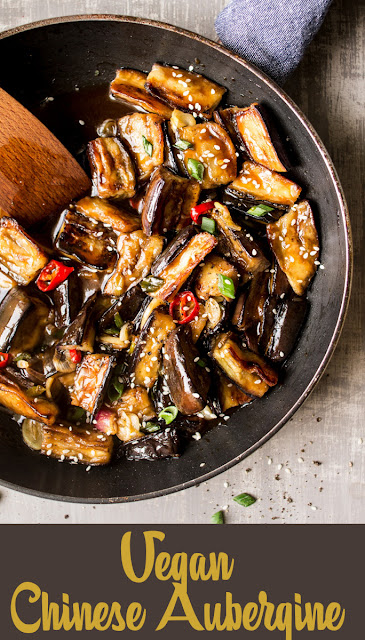 The Healthy simple dinner of Vegan Chinese Aubergine Recipe