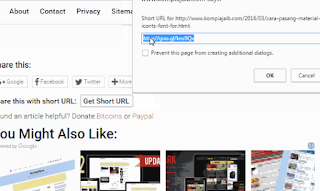 google url shortner post blogger