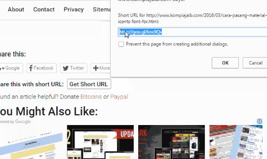 Google Url shortner share Blogger post
