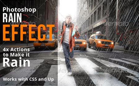 Rain Effect Photoshop Actions