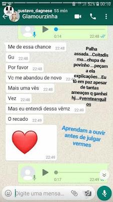 Conversa publicada por Gustavo no Instagram