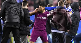 Sport: FA Cup! Aguero punches fan after Man City's 1 – 0 defeat to Wigan [PHOTOS]