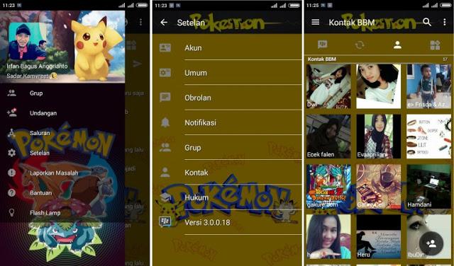 BBM MOD Pokemon Apk v3.0.0.18 (Not Clone) Tanpa Iklan