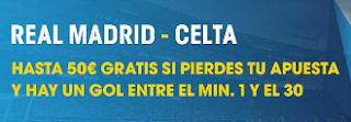 William Hill promocion 50 euros copa Real Madrid vs Celta 18 enero