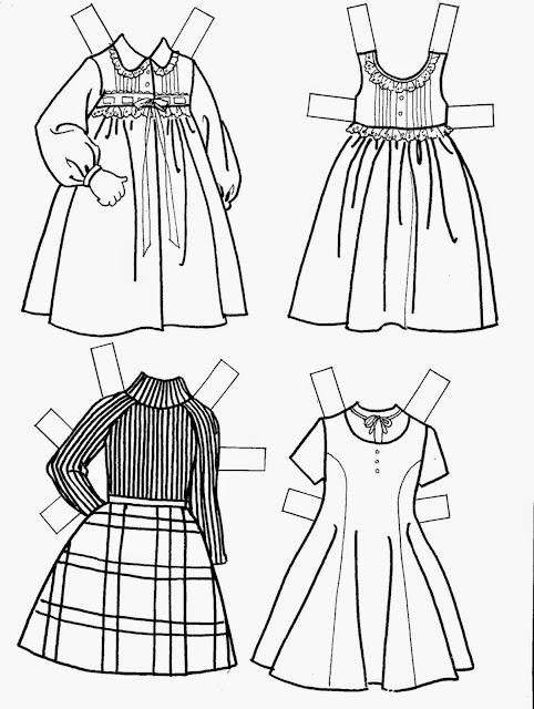 Resultado de imagem para Heidi boneca de papel para vestir e colorir, pintar!