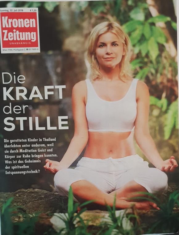 """Heute in Kronen-Zeitung unser Interview zum Thema """"Kraft der Stille"""" Rettung der thailändischen Kinder ..."""