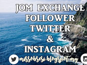 Segmen Jom Exchange Follower Twitter dan Instagram