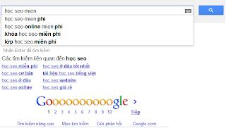 Google gợi ý từ khóa cho Đào Tạo Seo