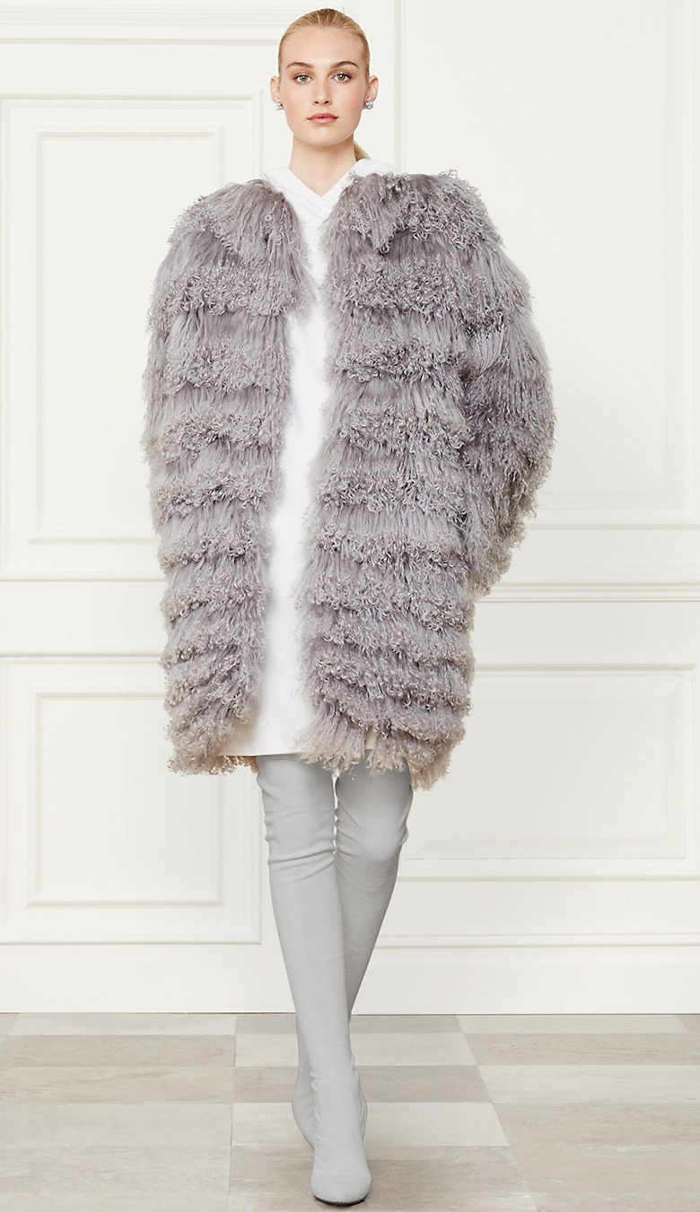 Ralph Lauren Shearling Veronica Coat Fall 2014 Collection