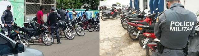 """Mais de 100 veículos irregulares são apreendidos durante a """"Operação Saturação"""" em Chapadinha"""