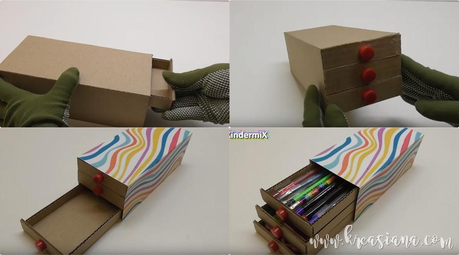 Aneka Cara Membuat Kotak Pensil Dari Kardus Bekas Dan Gambarnya
