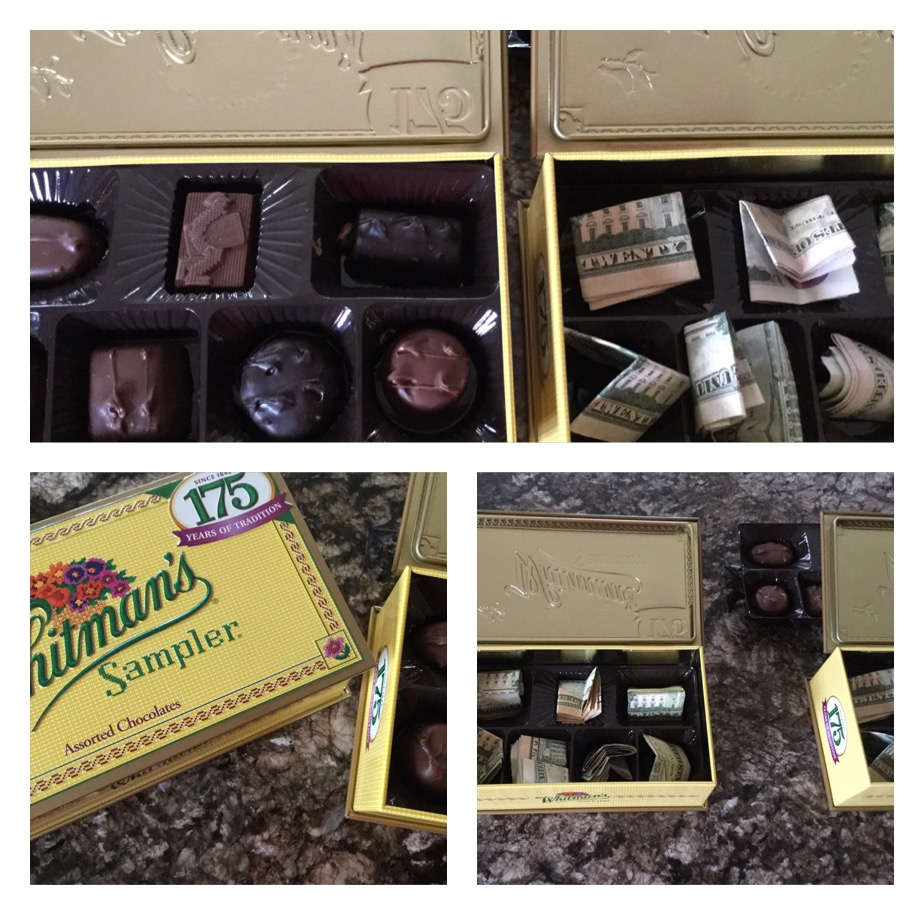 I was so excited to see the looks on their faces when they opened them because they truly thought it was just a box of chocolates! & Living on Cloud Nine: FUN GIFT IDEAS...INCLUDING MONEY u0026 CHOCOLATE Aboutintivar.Com