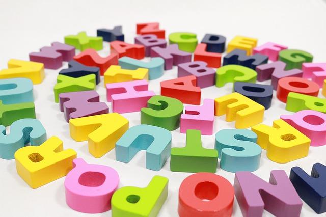 alfabeto, letras, toy
