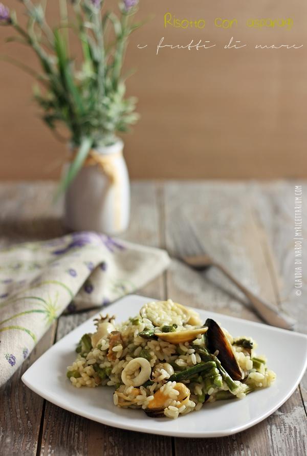 Risotto con asparagi e frutti di mare