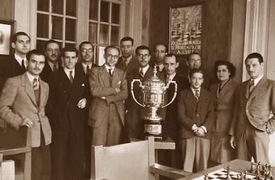 Club Ajedrez Barcelona, el campeón de Catalunya por equipos de 1945
