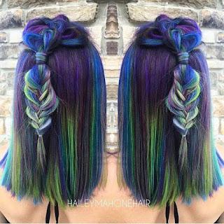 Cara Mewarnai Rambut Sendiri Peacock dan Balayage Trend