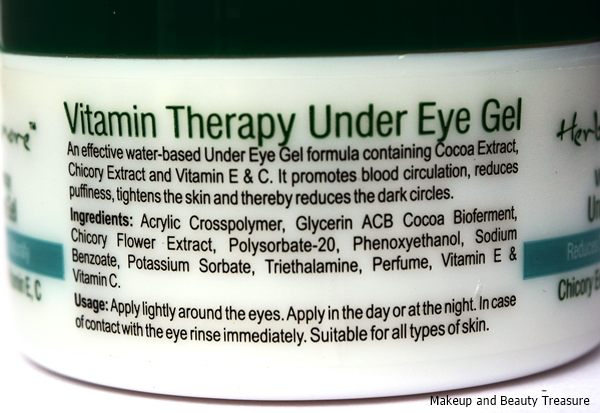 Herbs n more under Eye Gel for Puffiness