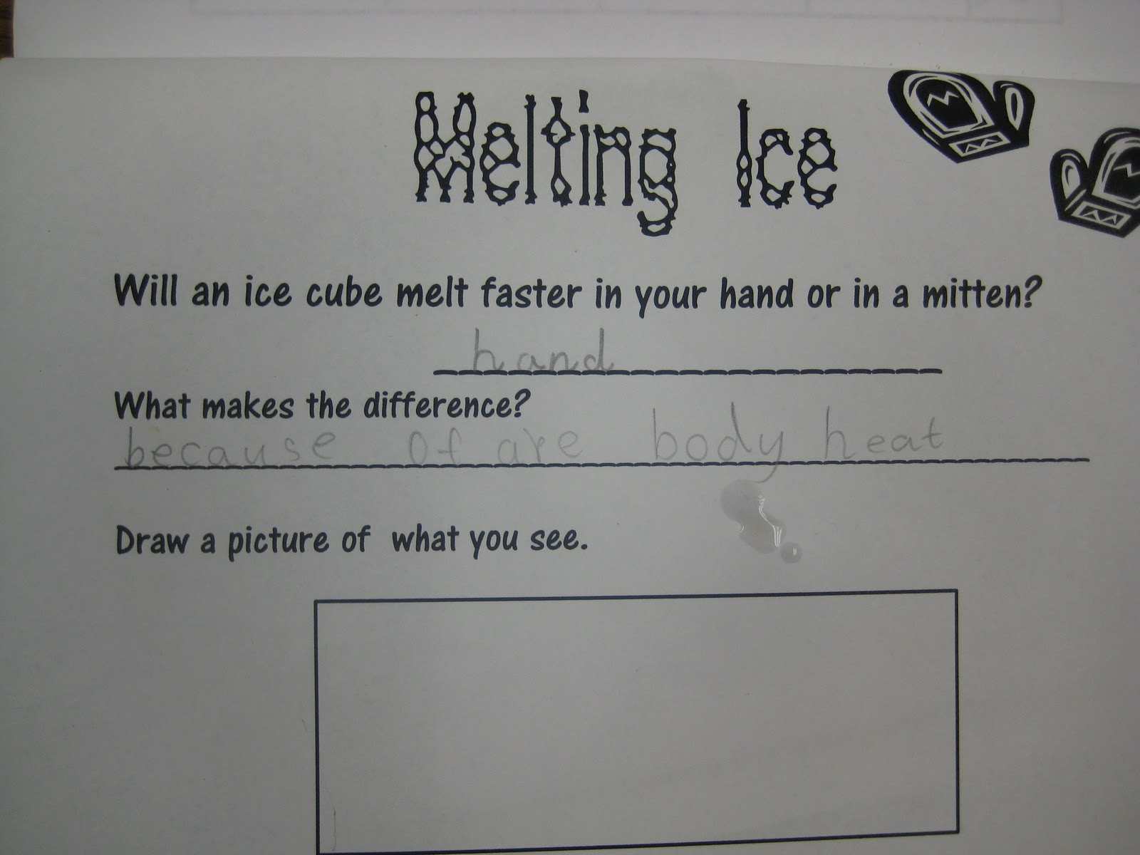 First Grade Wow Melting Ice Cube