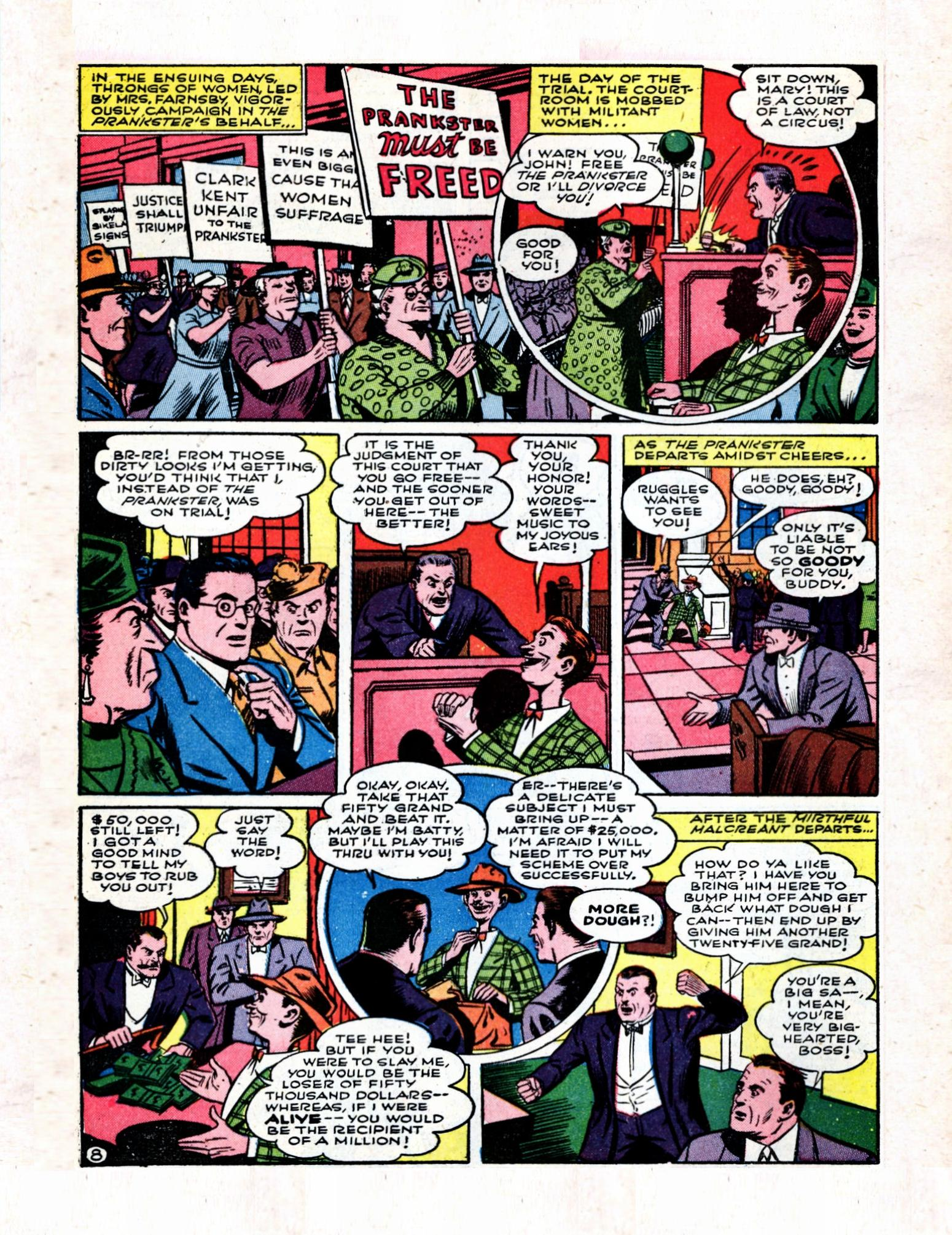 Read online Action Comics (1938) comic -  Issue #57 - 10
