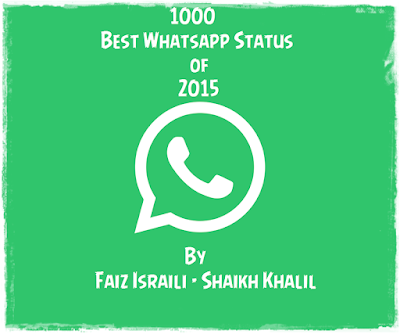 100+ Best Whatsapp Status of 2015